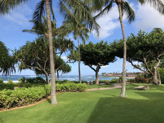 Marriott Waiohai Beach Club Grounds