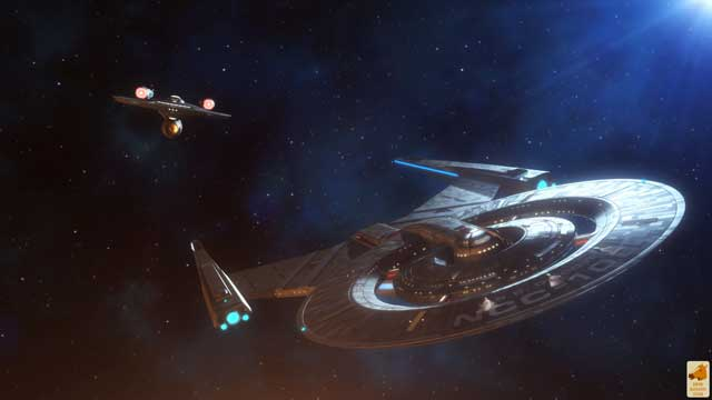 The Enterprise approaches Discovery.