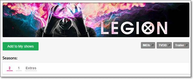 EpisodeCalendar - Show Details - Legion