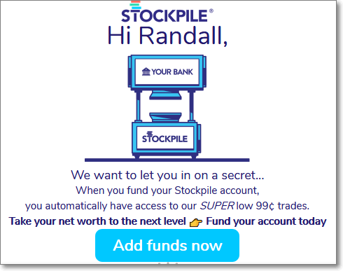 Stockpile Funding Reminder