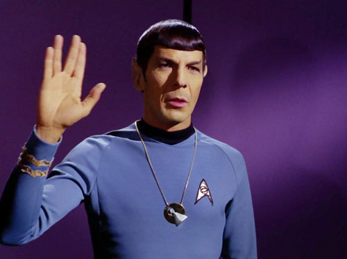 Spock Giving the Vulcan Salute