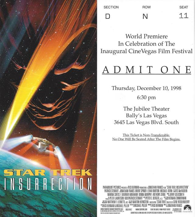 Insurrection Movie Premiere Ticket