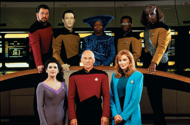 TNG Crew On the Bridge