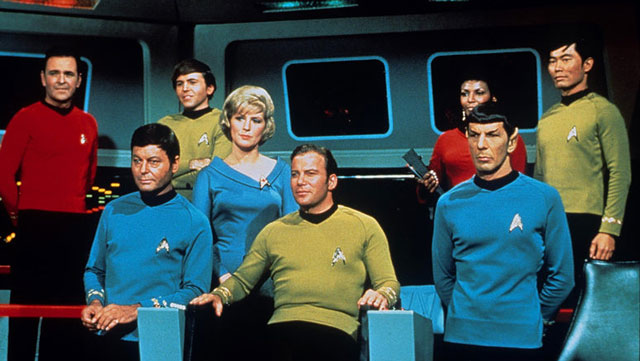 TOS Crew on the Bridge