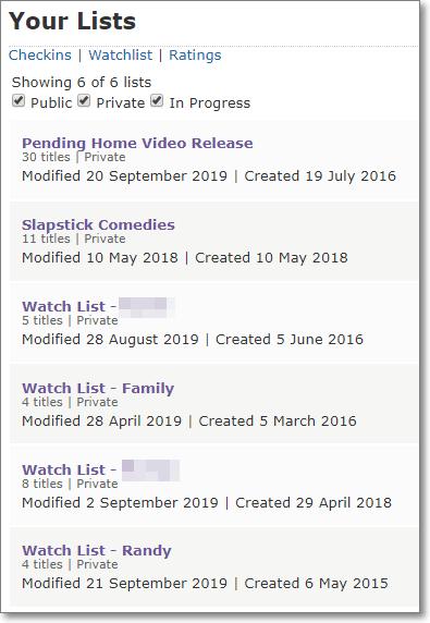 IMDb Lists