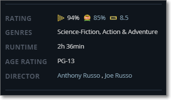 JustWatch - Movie Meta Info