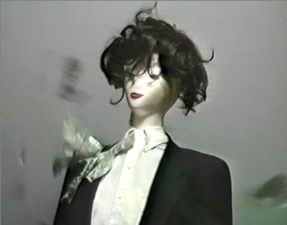 Mannequin in wind storm