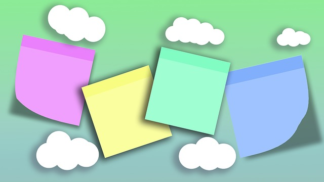 Sticky Notes In Clouds